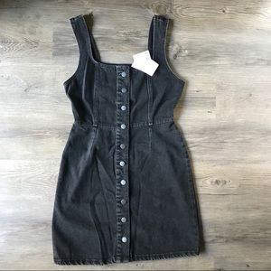 NWT Urban Outfitters Black Denim Jumper Dress
